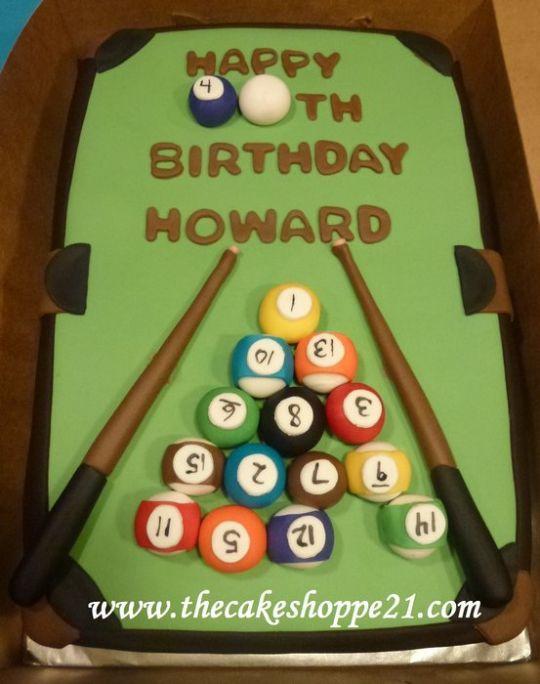 Pool table cake - Cake by THE CAKE SHOPPE - CakesDecor