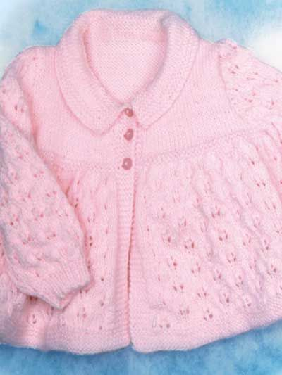 Knitting - Holiday & Seasonal Patterns - Easter Patterns - Knitted Lacy Jacket