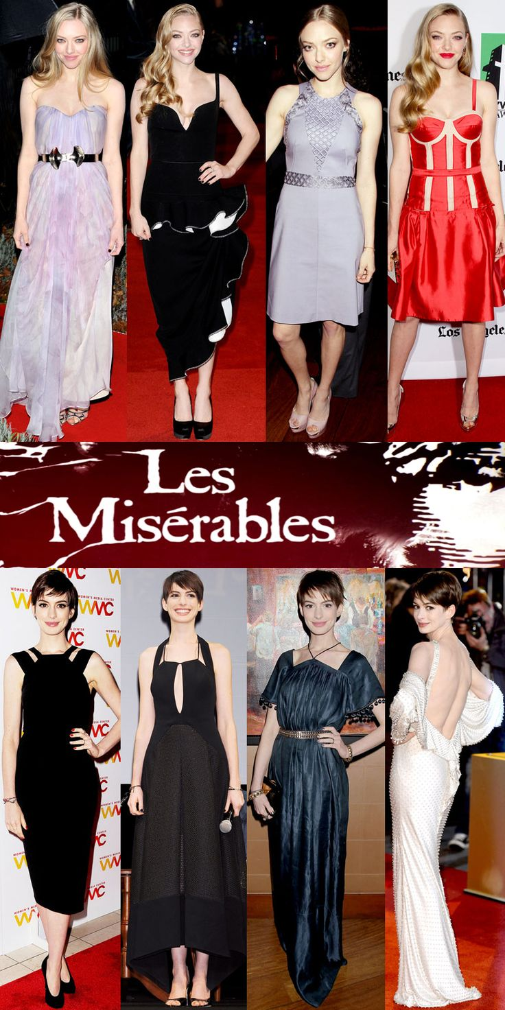 Red Carpet Review: Anne Hathaway & Amanda Seyfried Dazzle While Promoting 'Les Miserables'!