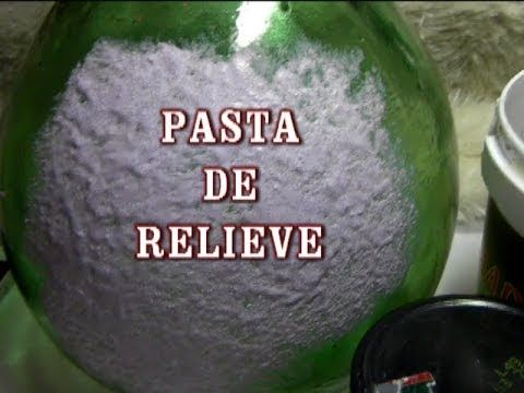 DIY PASTA DE RELIEVE PARA MANUALIDADES Y BELENES - YouTube