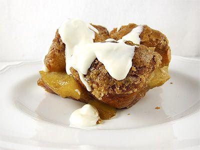 Apple Monkey Bread with Maple Cream Cheese Glaze