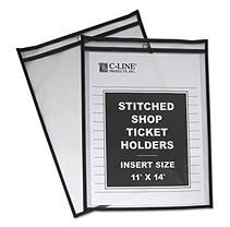 C-Line Stitched Plastic Shop Ticket Holders