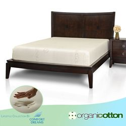 comfort dreams organic cotton 10inch fullsize memory foam mattress