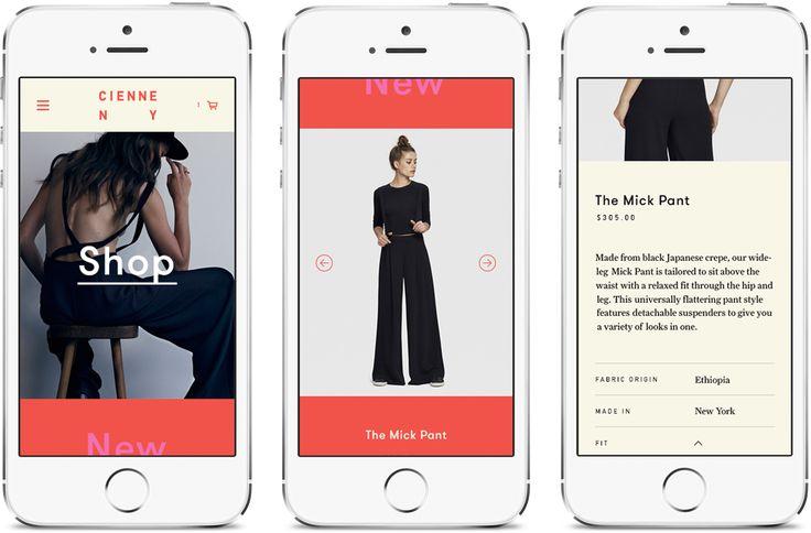 Contemporary E-commerce Design – Cienne – Hugo & Marie, NYC