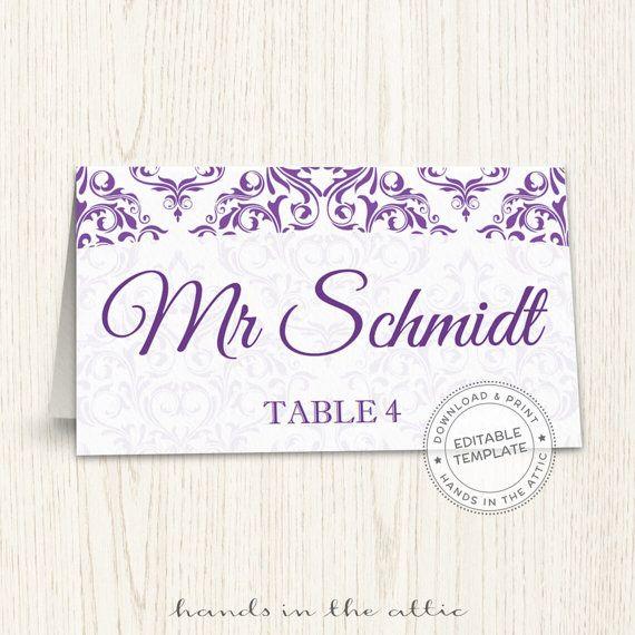50 best Wedding Place Cards images on Pinterest Wedding menu - wedding labels template