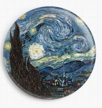 Needle minder for Cross Stitch - Van Gogh Cross Stitch, Starry Night - Tapestry and Needlepoint