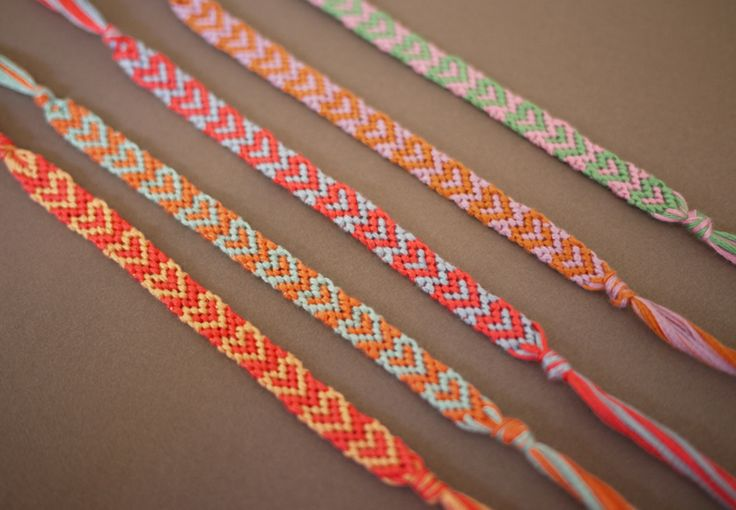 diy friendship bracelets with hearts accessorize pinterest