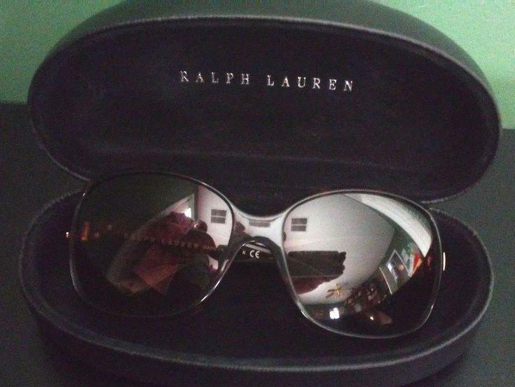 Ralph Lauren RL 8001 Brown Tortoise Women Sunglasses with Case Made in Italy EUC #RalphLauren