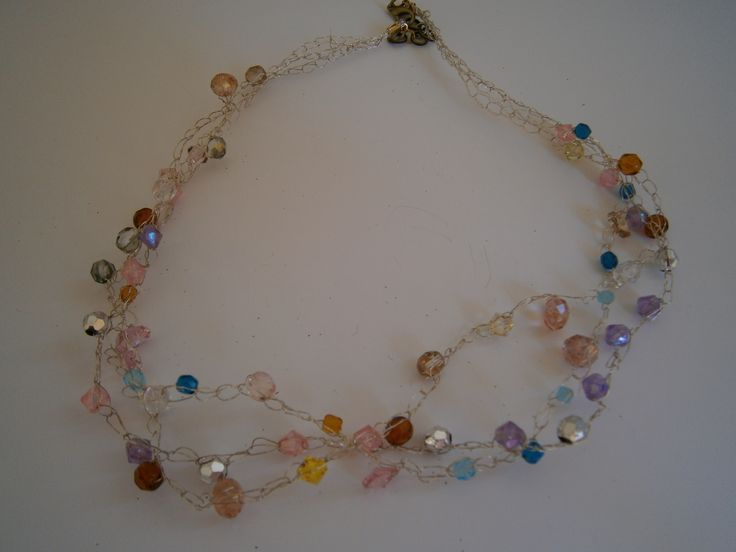 Sophiecadesigns #wire #crochet #crystal #beads #glass #beads