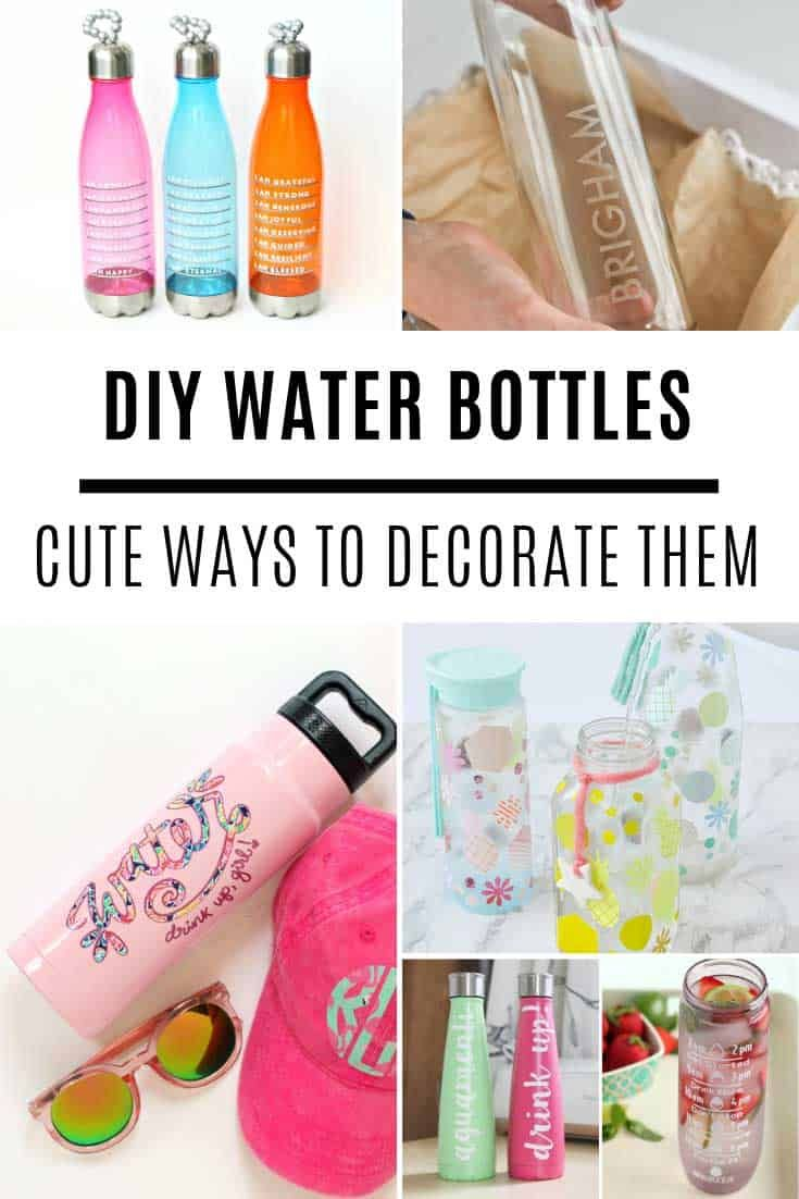 12 Creative Ways to Decorate a Water Bottle + Free Water Tracker