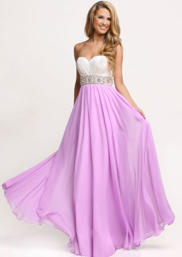 Cheap and Australia Sweetheart Zipper Beads Chiffon Lilac A-line Sleeveless White Floor Length Prom / Homecoming Dresses from En.dresses4Australia.com.au