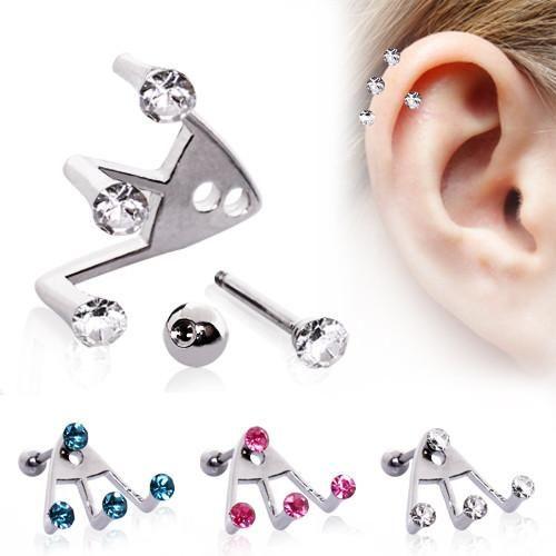 Trident Triple Cartilage Earring