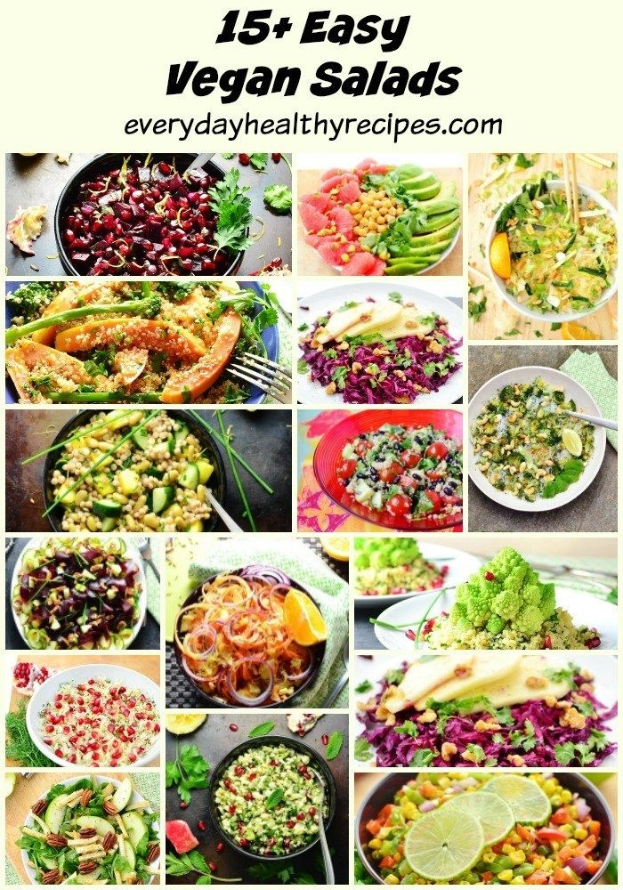 This Recipe Roundup Features 15 Easy Vegan Salads Suitable