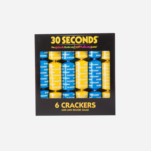 Glenart Trading - 30 Seconds – Mini Board Game & 6 Crackers
