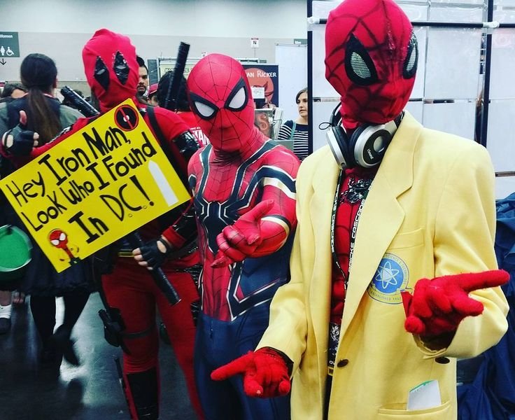 Who knew there would be so many spideys to find in D.C.? This Stark internship is growing eveyday! Thanks for the photo @emeraldcityavenger ! #rosecitycomiccon #rccc #spiderman #starkindustries #spidermancosplay #ironman  #infinitywar #marvelcosplay #superherocosplay #spidermanhomecoming #peterparker #acting #tonystark #shield #agentsofshield #deadpool #deadpoolcosplay #washingtondc #portland #seattle #photography #cosplay #cosplaygirls #ladydeadpool #style #pdx #spideysquad #deadpool2…