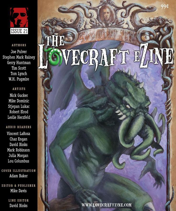 My Lovecraftian short story, Dom and Gio's Barber Shop, appeared in The Lovecraft eZine 21