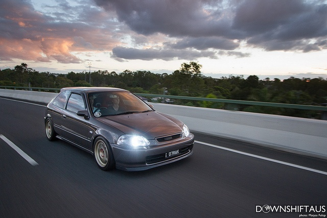 Marko's Honda Civic EK, via Flickr and downshiftaus.com/2013/markos-track-inspired-ek-civic/