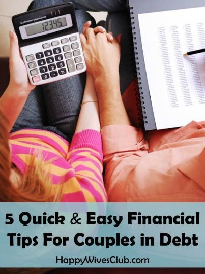 5 Quick & Easy Financial Tips For Couples in Debt -#Marriage #Finance #Budget - Click to Read!