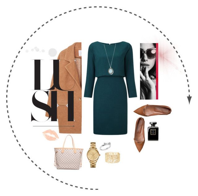 """✨ evening out ✨"" by girlfromtown ❤ liked on Polyvore featuring MANGO, Louis Vuitton, Lacoste, Kate Spade, Charlotte Russe and Armenta"