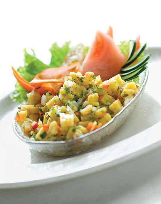 An irresistible plantain ceviche.
