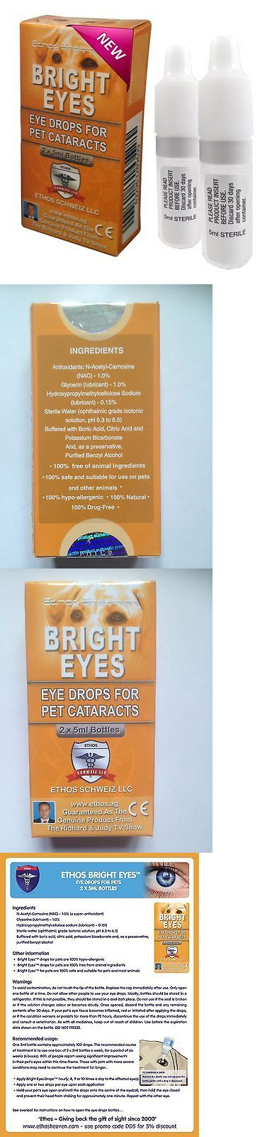 Eye Care 134792: Ethos Bright Eyes Cataract Eye Drops For Dogs And Pets 1 Box - 2 X 5 Ml Bottles -> BUY IT NOW ONLY: $59.97 on eBay!