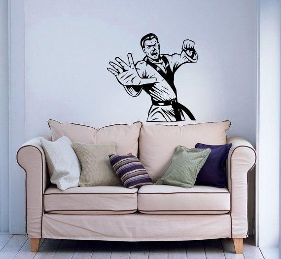 Intenso marziali Arti uomo Sport Karate Sportsman palestra parete vinile Decal Sticker Housewares Design arte murales Interior Decor Home camera da letto SV5252
