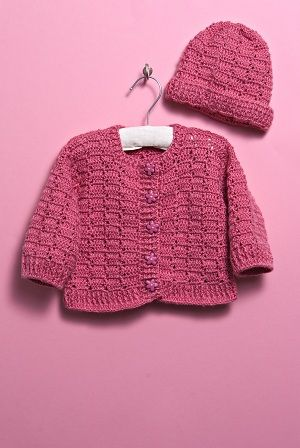 Baby Sweater and Hat free crochet pattern