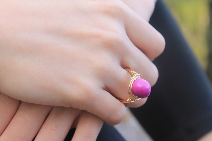 Intrinsic Couture Wire Wrap Violet Ring