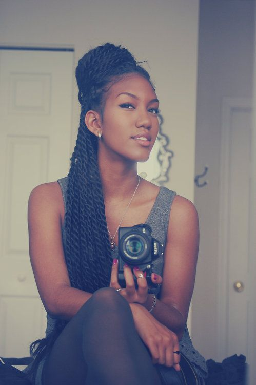 TWISTS. Love her hair!! <3