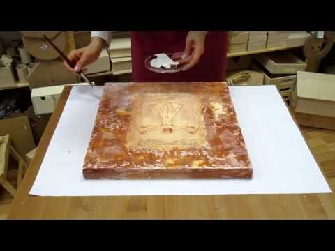 Decoupage tutorial DIY. Decoupage on canvas. How to make canvas art. - YouTube
