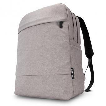 Hombros POFOKO 15,6 pulgadas de doble capa 2 -Calidad Tela del morral bolso impermeable para el ordenador portátil portátil (Gris)