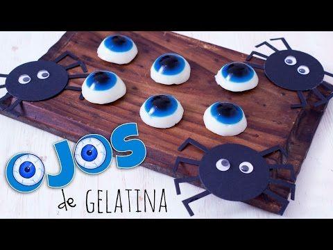 Receta ojos de gelatina para Halloween - YouTube