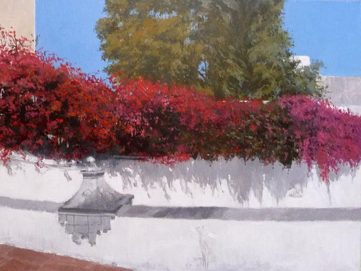 Armario Keter Jardin ~ cuadro alóleo de una calle de Córdoba Cuadros de flores