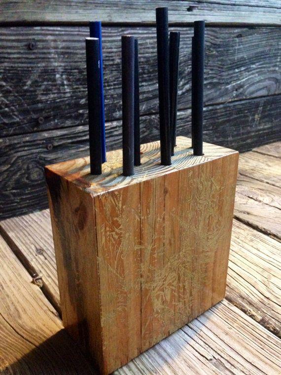 Pen Holder, Wood Desk Organizer. Wooden Pencil Holder, Wood Desk Storage,  Desk