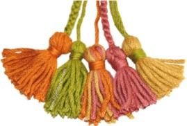 Aprende a hacer estas borlas (tessels) para decorar tus prendas tejidas!!