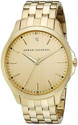 Armani Exchange Men's AX2167 Analog Display Analog Quartz Gold Watch