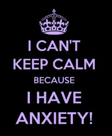 I Cant Keep Calm I Have Anxiety T-Shirt - Youth and Adult Sizes by JustAnAwesomeMom for $10.00
