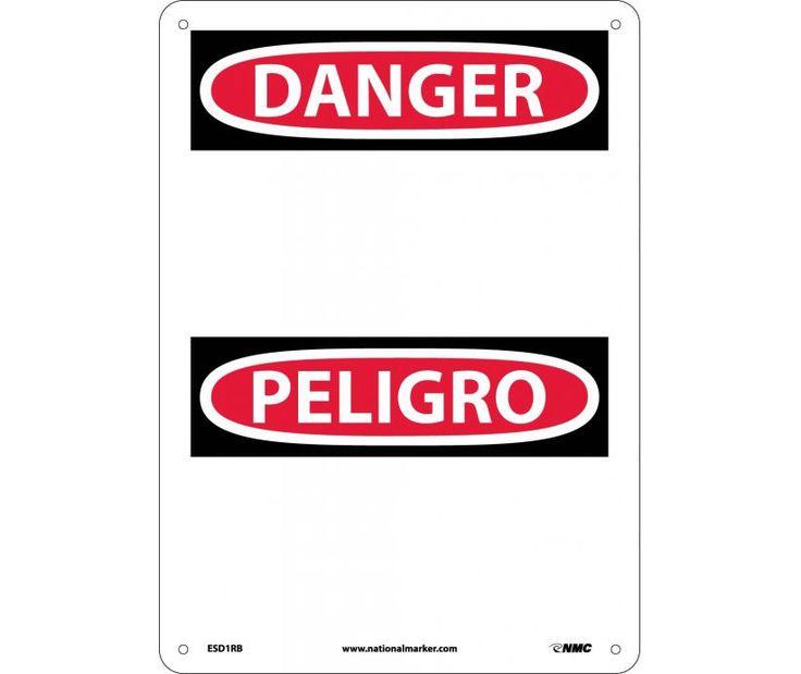 Danger, (HEADER ONLY) (Bilingual), 14X10, Rigid Plastic