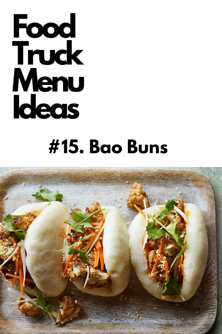 Food truck menu ideas bao buns in 2020 food truck menu