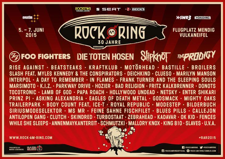 Rock am Ring 2015 zum ersten Mal auf dem Flugplatz Mendig. Das wird PHÄNOMENAL! #RockAmRing Tickets gibt's hier: http://www.ticketmaster.de/artist/rock-am-ring-2015-tickets/130573