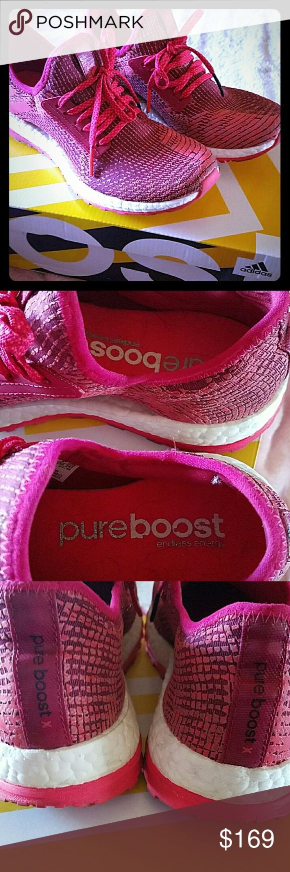 Adidas Pure Boost X Worn once, basically brand new. Comes with box  True to size Very comfortable, lightweight and breathable Adidas Shoes Athletic Shoes