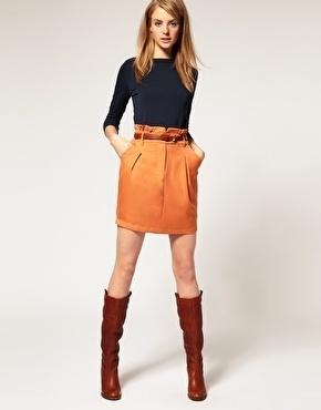 Vila Mini Skirt With Gathered Frilled Waist - StyleSays