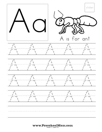 Preschool Alphabet Handwriting All For Eli Pinterest