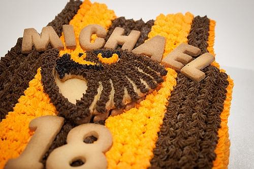 Hawthorn Footy Birthday Cake for a happy Hawks fan.....