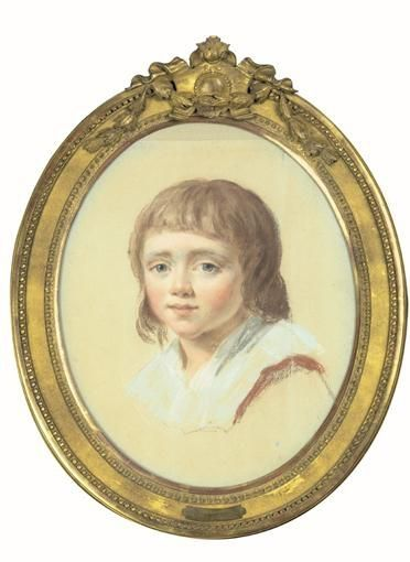 Louis XVII (1785-1795), late 18th C miniature by Joseph Ducreux (1735-1802)