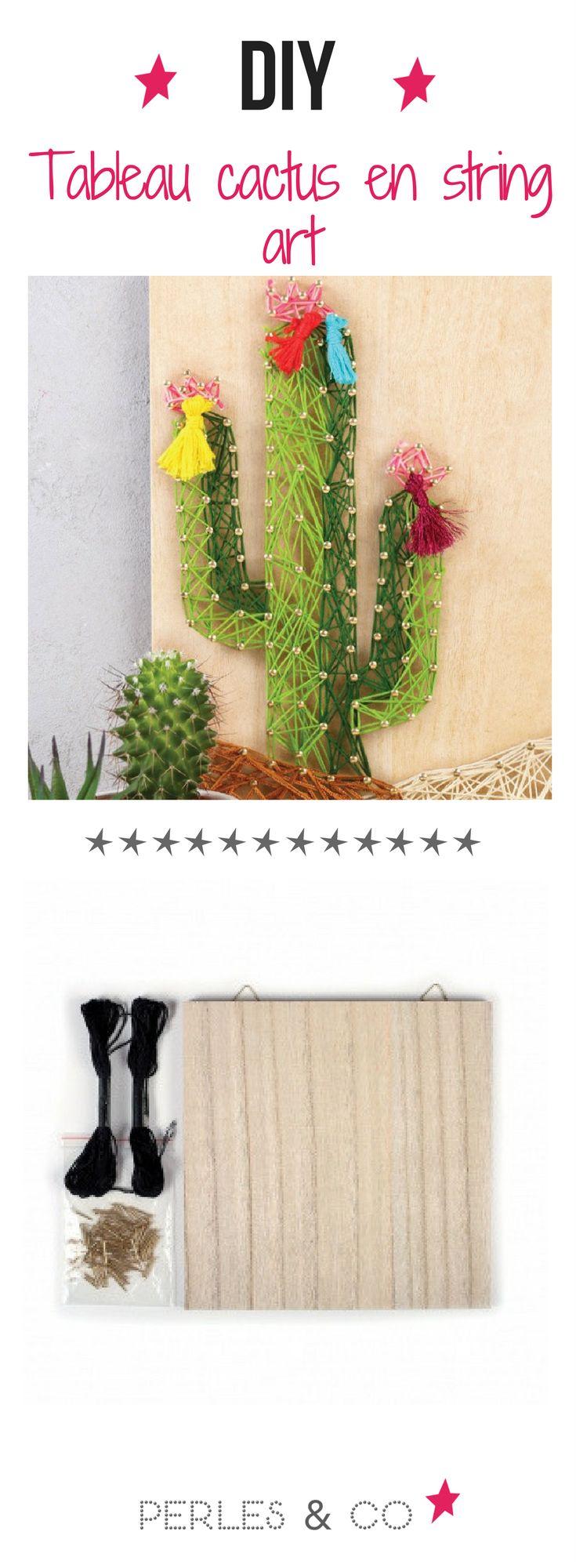 Réalisez un tableau cactus en string art. Redécorez votre salon avec un tableau unique fait par vous ! Le string art est ultra-tendance et personnalisable à l'infini ! Retrouvez nos kit string art sur le site de Perles and Co !