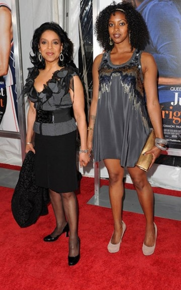 "Phylicia Rashad and daughter Condola at the ""Just Wright"" movie premiere"
