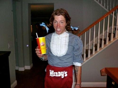 Shaun White, crazy gingerShaun White, Wendy'S Girls, Wendy Costumes, Wendy Girls, Girls Halloween, Funny Halloween Costumes, Funny Stuff, Shawn White, Costumes Ideas
