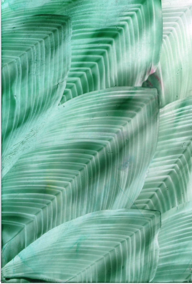 green feathers one of my encaustic art paintings