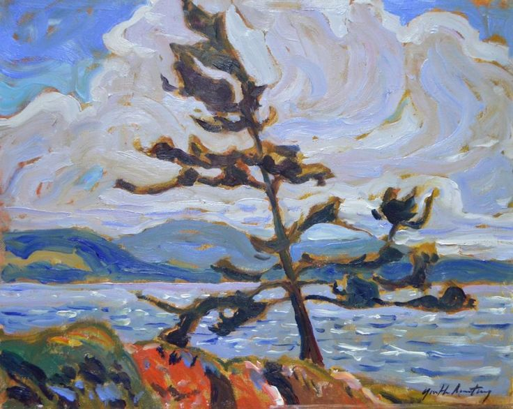 Garth Armstrong - Algonquin Park Wind 8 x 10 Oil on canvas